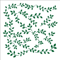 "Swirling Vines Background/ Accent 12 x 12"" Stencil"