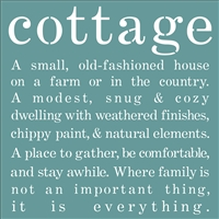 cottage A small, old-fashioned house on a farm or in the country...