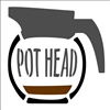 "POT HEAD w/ Coffee Pot Graphic 10 x 12"" Stencil"