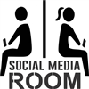 "SOCIAL MEDIA ROOM w/ Male & Female on Cell Phones 10.5 x 10.5"" Stencil"