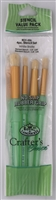 Royal Langnickel Four Stencil Brush Value Pack