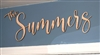 "Custom Modern Script ""The"" YOUR NAME Laser Cut 1/4"" Birch Wood -Two Size Choices"