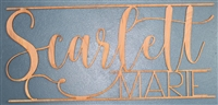 "Custom Modern Script / Simple YOUR NAME Laser Cut 1/4"" Birch Wood -Two Size Choices for Nursery"