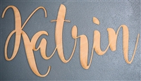 "Custom YOUR NAME Laser Cut 1/4"" Birch Wood -Two Size / Eight Font Choices"