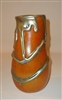 Charles Lotton Orange Lava Cypriot Vase