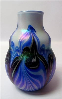 Charles Lotton Blue Tribal Vase