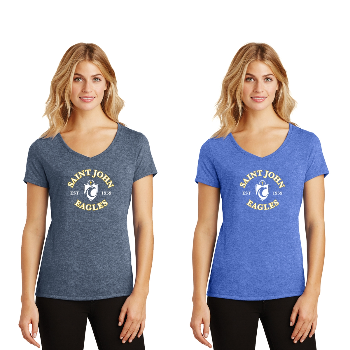 a93c56fcee3 District Made® Ladies Perfect Tri® V-Neck Tee