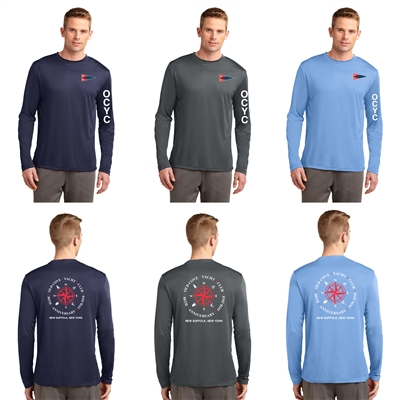 Sport-Tek Adult Long Sleeve PosiCharge Competitor Tee with Boat Logo
