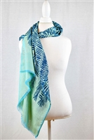 Fringe trim vibrant geometric patterns scarf evenings beautiful light color feather scarves wraps handmade eesme india