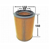 <h2>Air Filter Round, Daihatsu Hijet, #A726J </h2>