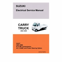 Electrical Service Manual, Suzuki Carry, Da63T
