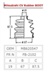 <h2>Front Axle CV Boot (Outer), Mitsubishi Minicab U42T,  #FB2103</h2>