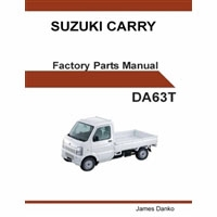 Factory Parts Manual, Suzuki Carry, DA63T