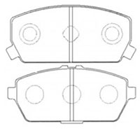 <h2>PN3311 Mitsubishi Brake Pads, Front, Disc, 91 to 95 U42T and others</h2>