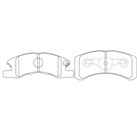 <h2>Mitsubishi Minica Brake Pads, Front, Disc, 1998 to 2007, </h2>
