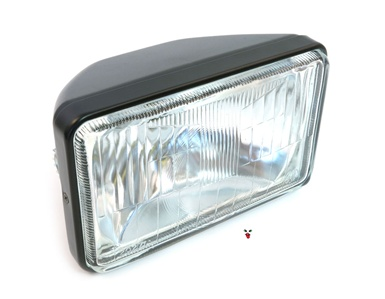 black GUIA square headlight - 6.5""