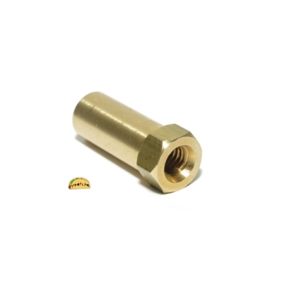 M7 10mm long brass exhaust nut