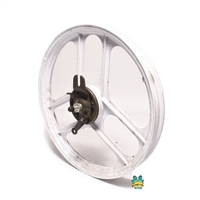 "NOS grimeca 16"" 3 star front wheel - WHITE"