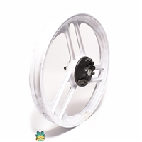 "NOS grimeca 17"" 3 star front wheel - WHITE"