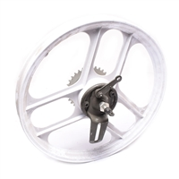 "NOS grimeca 16"" 3 star rear wheel - WHITE"