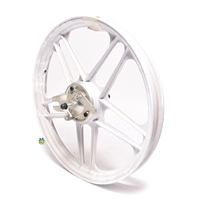 "NOS grimeca 16"" 5 star front wheel - WHITE"
