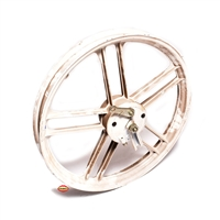"NOS fantic motor front 16"" five star mag wheel - WHITE"