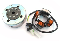 OEM derbi revolution start V cdi stator and magneto assembly