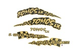 tomos OEM black and gold decal set for TTLX