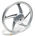 "OEM vespa 5 star 17"" BANANA mag wheel - REAR - silver"