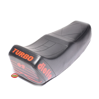 dieffe long black buddy seat - RED TURBO