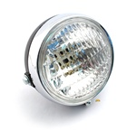 universal moped headlight black with chrome rim for all mopeds
