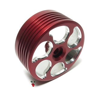 vespa piaggio CNC'd aluminum racing variated clutch bell - RED