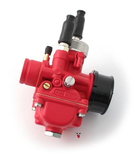 dellorto PHBG 21mm red race carburetor