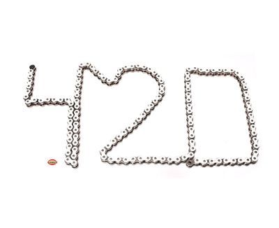 doppler 420 WHITE motorcycle chain - 134 links