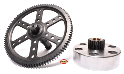puch e50 straight cut gear complete set - KTM CLUTCH version