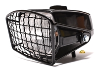 universal EURO headlight WITH grill - black