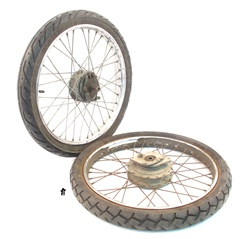 USED honda hobbit spoked wheel set