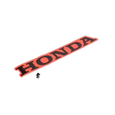 OEM honda tank decal - black / silver
