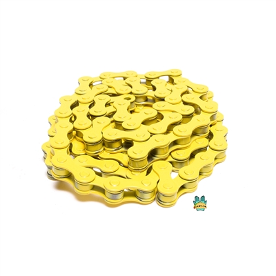 "yellow 1/8"" bicycle chain - 112 links"