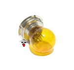 vintage cafe racer amber light bulb 6 volt / 15 watt - P26s