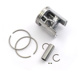 malossi vespa piston for 43mm cylinders - 12 pin