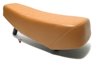 new puch maxi moped long seat with LOW BRACKET - CARAMEL