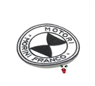 MOPED THREADS morini logo patch - mostly white with some black