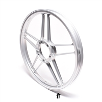 "puch moped new 17"" silver five star - RIM only!!"
