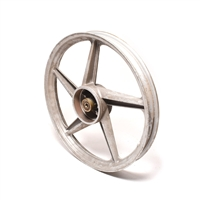 "NOS grimeca 16"" 3 star garelli rear wheel -  silver"