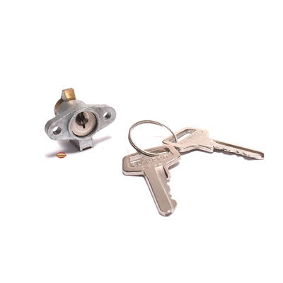 nos oem derbi seat latch key - variant front locking style
