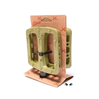odyssey TWISTED PC bmx pedals - ARMY green