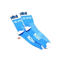 polini RACING socks - blue and white