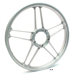 "puch moped new 17"" silver five star mag wheel"