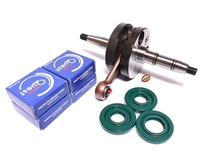 puch E50 crankshaft UNSTUFFED + seals + NACHI bearings party